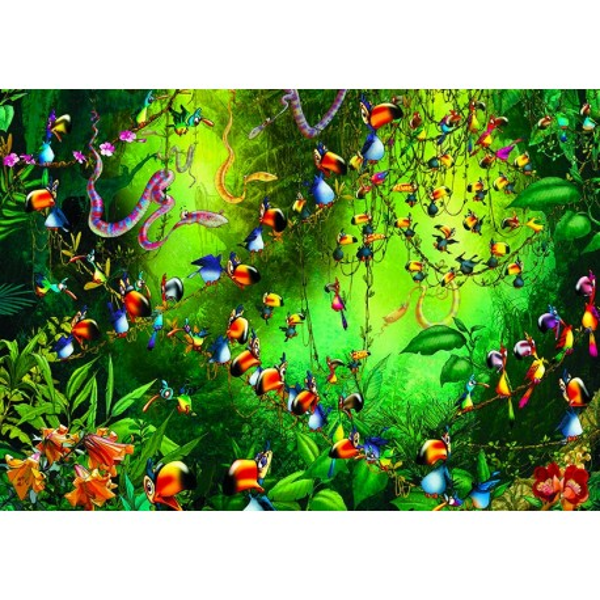 Puzzle Piatnik & Sohne Ruyer, Tukany w dżungli