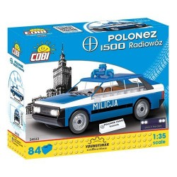 Klocki Youngtimer Collection FSO Polonez 1500 Radiowoz