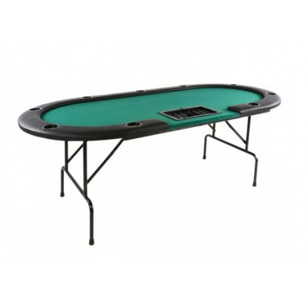 Składany Stół Do Pokera Dla 10 osób z miejscem dla krupiera