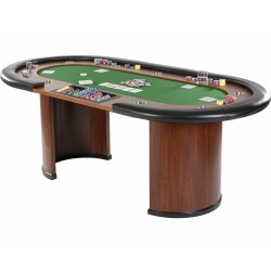 Zielony Stół do pokera XXL Royal Flush 213 x 106 x 75cm, kasynowy  stół pokerowy