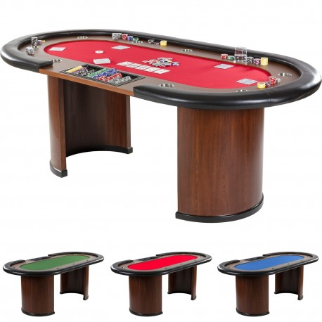 Stół do pokera XXL Royal Flush 213 x 106 x 75cm, kasynowy  stół pokerowy