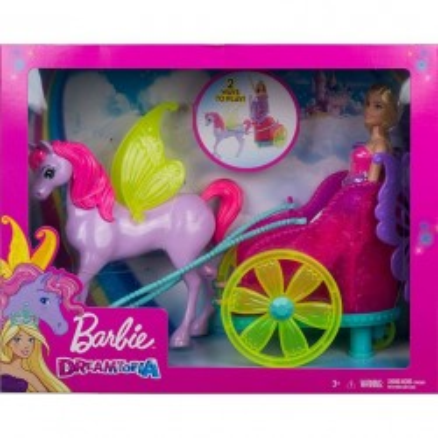 Laka Barbie Rydwan i pegaz + Lalka księżniczka