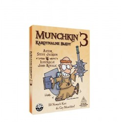 Gra Munchkin 3 Kardynalne Błędy Dodatek