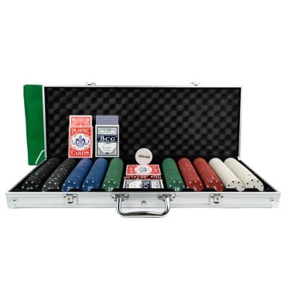 Wielki Zestaw Do Pokera W Aluminiowym Kufrze.