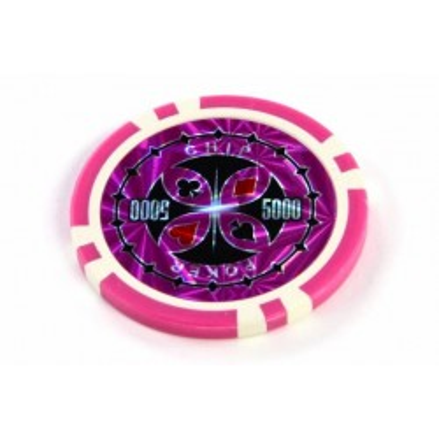 """Żetony na sztuki Ultimate z nominałem """"5000"""", żetony do pokera."""