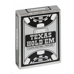 TEXAS HOLD'EM SILVER/PEEK INDEX czarne i czerwone