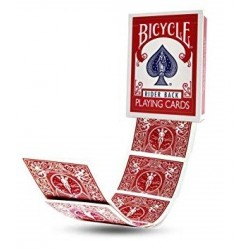 Bicycle Gaff Card- Double Back Red/Red
