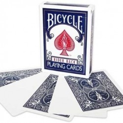 Bicycle Gaff Card- Blank Face Blue Back
