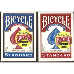 Bicycle Gaff Card-  Stripper Decks - Red and Blue