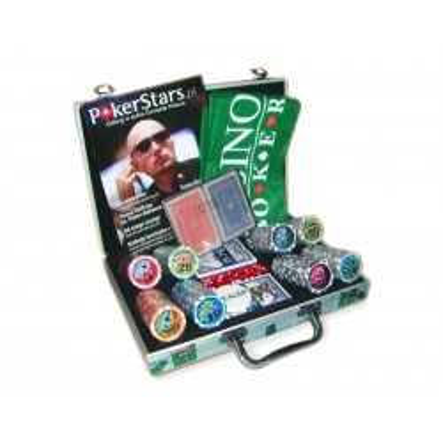 Luksusowy Zestaw Do Pokera Żetony Nominał Karty Poker