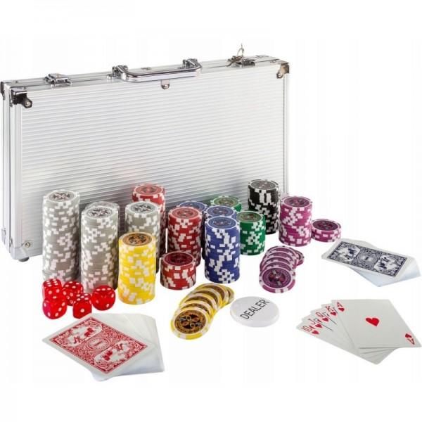 Skórzany Zestaw Do Pokera Firmy UNIBET Żetony Karty Poker.