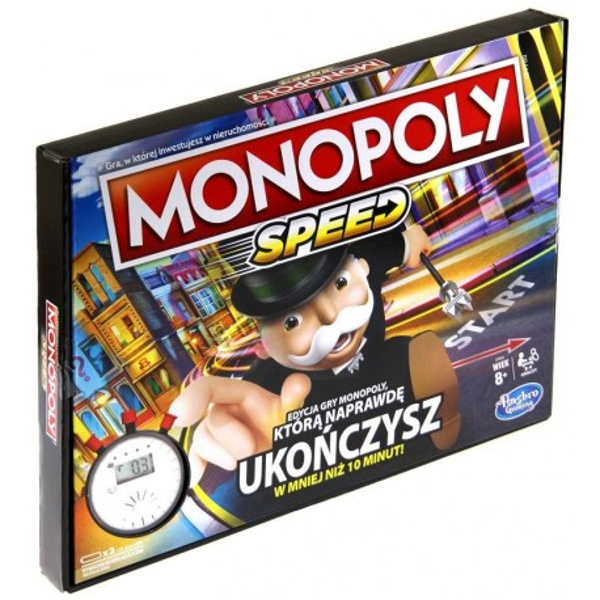 Oryginalna Gra Monopoly Speed Wersja Polska Hasbro