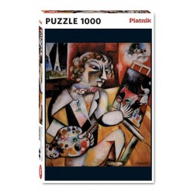 Piękne puzzle Piatnik Chagall, Autoportret