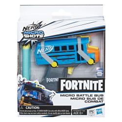 NERF FORTNITE MICRO BATTLE BUS + 2 STRZAŁKI