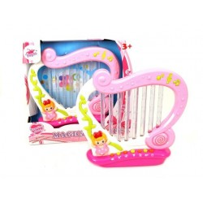 Harfa duża dźwięk światło