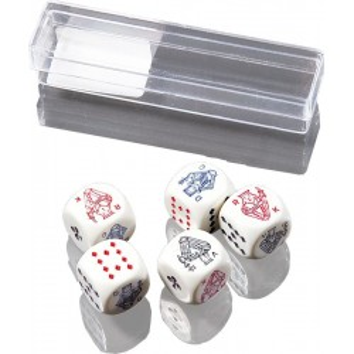 Kości pokerowe małe 5 sztuk
