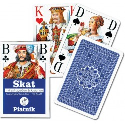 Karty do gry Piatnik Skat (talia od siódemek)